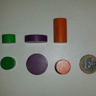 Fiches - cylinders - schijven - kubussen - staafjes