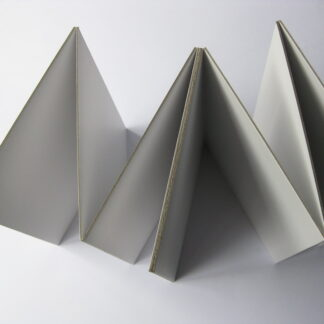spelbord A2 blanco wit met omkleefde randen