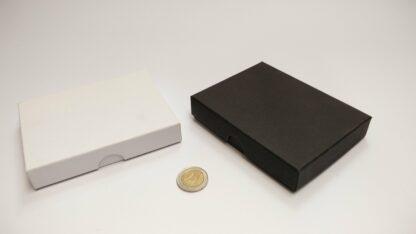 kaartdoosje karton 120x90x20mm bodem-deksel - dicht zwart en wit