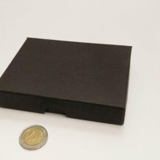 kaartdoosje karton 120x90x20mm bodem-deksel - dicht zwart