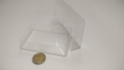 kaartdoos plastic doorzichtig 60x90x20mm - open