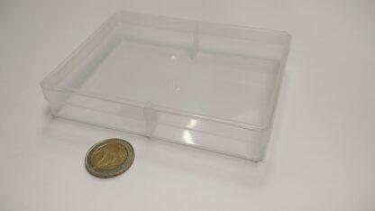 kaartdoos plastic doorzichtig 130x97x22mm - dicht
