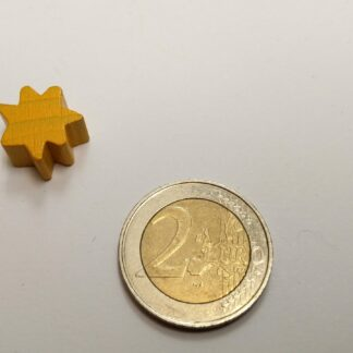 star hout 16x8mm geel