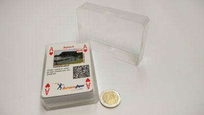 kaartdoosje plastic doorzichtig 60x90x20mm met kaartenspel