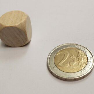Dobbelsteen 16mm hout blanco met afgeronde hoeken