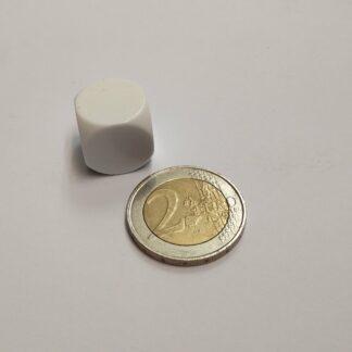 dobbelsteen blanco 16mm afgeronde hoeken