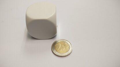 Dobbelsteen plastic 36mm blanco