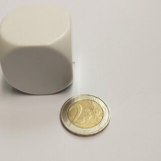 Dobbelsteen 36mm plastic blanco met afgeronde hoeken