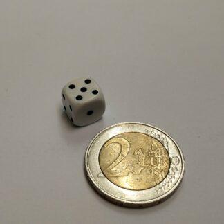Dobbelsteen 10mm plastic met ogen 1-6 afgeronde hoeken