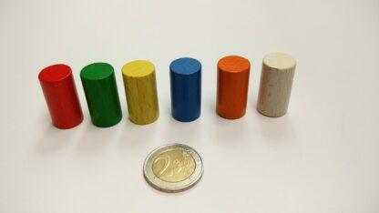 Cylinder 15x28mm kleuren