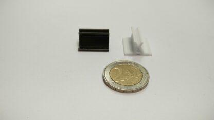 pion-figuur plastic voetje rechthoekig 20x18mm zwart en wit