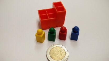 pion vierkant 9mm plastic