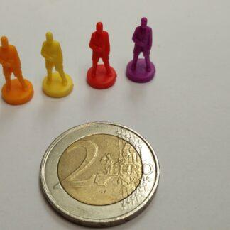 pion-figuur plastic man klein overzicht kleuren