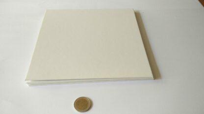 Spelbord vierkant karton blanco wit 42x42cm opvouwbaar tot 21x21cm