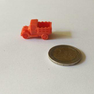 Spelfiguur jeep plastic met plek voor 4 kubusjes 8mm