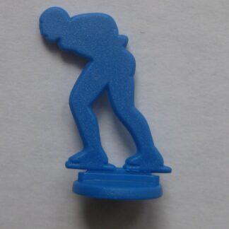 Figuur schaatser plastic
